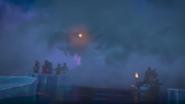 Ronin's ship approaching the ninja