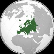 Europe orthographic Caucasus Urals boundary