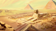Giza Sphinx and Plateau