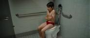 Greg Heffley in the bathroom
