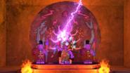 Mammatus activates his lightning staff