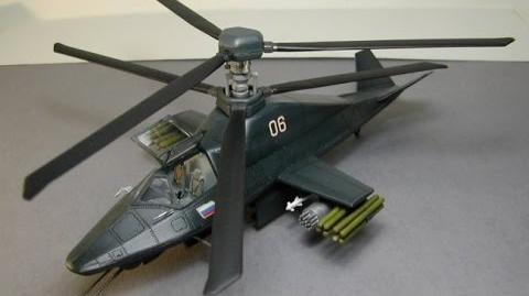 Russian Kamov (Ka-58) Black Ghost Stealth Helicopter