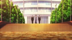 Washiho walking with security guards.jpg