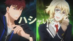 Kagetora and Minori appearing during INAZUMA SHOCK.jpg