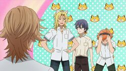Hinata feeling embarrased about his cat ears with Ryo reassuring him.jpg