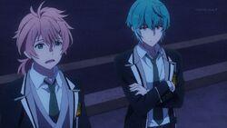 Koya questioning Ushio about the plan.jpg