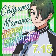 Chiguma Marume Happy Birthday Card