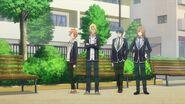 Ryo telling Hinata, Mitsuki, and Satsuma they might be hiding