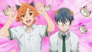 Hinata and Satsuma dressed with cat ears