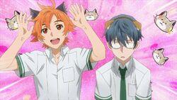 Hinata and Satsuma dressed with cat ears.jpg
