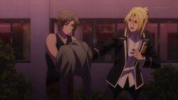 Ryo telling Satoru make sure you keep that off for a while.jpg