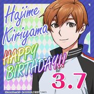 Hajime Kiriyama Happy Birthday Card