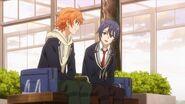 Saku telling Hinata thanks for all your help