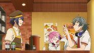 Sosuke telling Saku two volcano currys