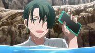 Chiguma telling Sosuke that his phone is water proof