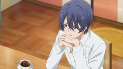 Saku telling Sosuke and Uta I haven't seen any cats or white shadows around today either.jpg