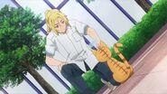 Ryo petting Minori as a cat