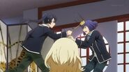 Ushio being whacked on the head again while trying to stop Kaoru