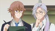 Ryunosuke and Tsukasa looking at the results