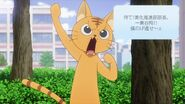 Minori as a cat telling Rei to hold it