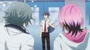 Sosuke asking Saku how long he has been standing there