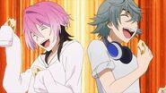 Sosuke and Uta enjoying Kai's curry