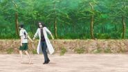 Chiguma grabbing ahold of Washiho's hand