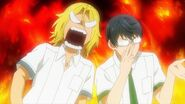 Ryo getting angry at Satsuma for being told that he is useless