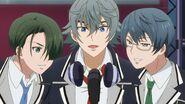 Sosuke, Satsuma, and Chiguma singing INAZUMA SHOCK