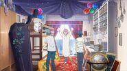 Uta welcoming Sosuke and Saku to Uta land