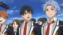 Kippei, Hajime, and Yuto listening to Sakutasuke.jpg