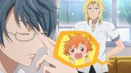 Hinata being excited to hear that Ryo has some ideas