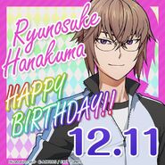 Ryunosuke Hanakuma Happy Birthday Card