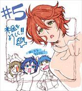 Itto, Takato, Ryunosuke, and Hozumi Episode 5 Illustration