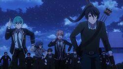 Kaoru, Koya, Seijun, and Ushio running from security.jpg