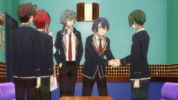 Saku shaking hands with Chiguma.jpg
