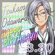 Tsukasa Odawara Happy Birthday Card