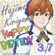 Hajime Kiriyama Happy Birthday