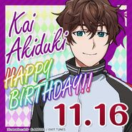 Kai Akizuki Happy Birthday