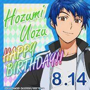 Hozumi Uozu Happy Birthday Card