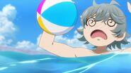 Sosuke being hit by the ball Uta tossed