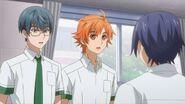 Saku telling Hinata and Satsuma I can't join your club