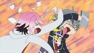 Uta fighting with Sosuke