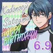 Satsuma Kadonooji Happy Birthday Card