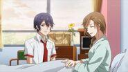 Nozomi telling Saku she's glad