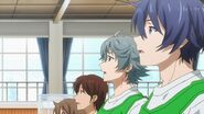 Saku and Sosuke watching the basketball game