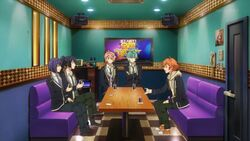 Hinata persuading to Ushio, Kaoru, Koya, and Seijun.jpg