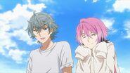 Sosuke telling Saku about them being friends