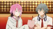 Uta telling Sosuke he wrote lyrics while watching Satsuma eating honey toast