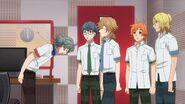 Sosuke thanking Mitsuki for letting them borrow the room